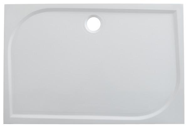 receveur extraplat en r sine blanche 120 x 80 cm 80 x 120 cm brico d p t. Black Bedroom Furniture Sets. Home Design Ideas