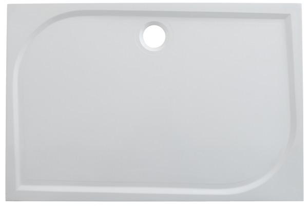 receveur extraplat en r sine blanche 120 x 90 cm 90 x 120 cm brico d p t. Black Bedroom Furniture Sets. Home Design Ideas