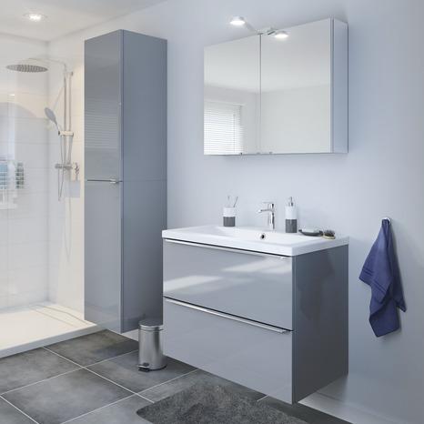 armoire murale miroir imandra l 80 x h 60 x p 15 cm brico d p t. Black Bedroom Furniture Sets. Home Design Ideas