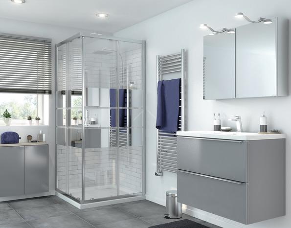 acc s d 39 angle droit beloya h 195 x l 90 cm verre effet miroir larg 90 cm brico d p t. Black Bedroom Furniture Sets. Home Design Ideas