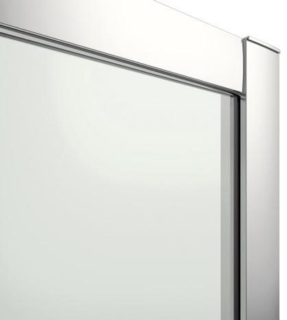 Porte coulissante 3 volets beloya h 195 x l 92 5 cm verre transparent larg ext de 87 5 - Porte de douche coulissante 3 volets ...