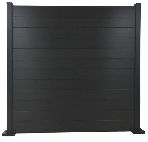 lot de 3 lames de cl ture composite gris fonce neva l 1. Black Bedroom Furniture Sets. Home Design Ideas