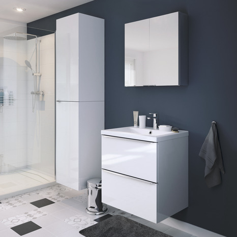 armoire murale blanc imandra l 40 x h 90 x p 36 cm brico d p t. Black Bedroom Furniture Sets. Home Design Ideas