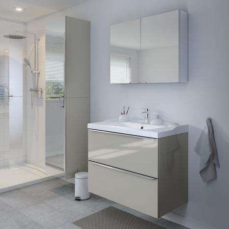 meuble sous vasque suspendre taupe imandra l 80 x h. Black Bedroom Furniture Sets. Home Design Ideas