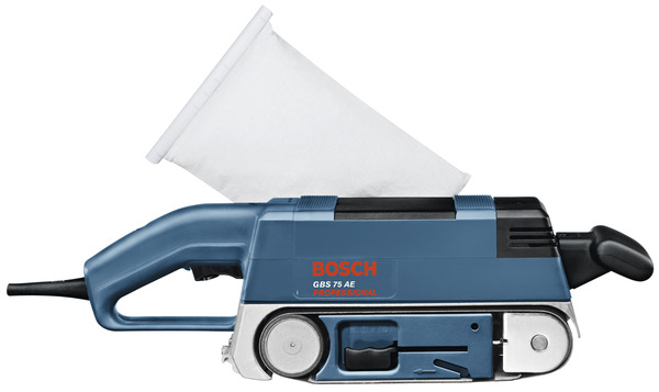 bosch bleu ponceuse bande 750w gbs 75 ae brico d p t. Black Bedroom Furniture Sets. Home Design Ideas