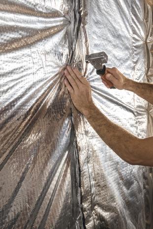 isolant mince r flectif certifi avec pare vapeur int gr l 10 x 1 50 m x p 45 mm brico d p t. Black Bedroom Furniture Sets. Home Design Ideas