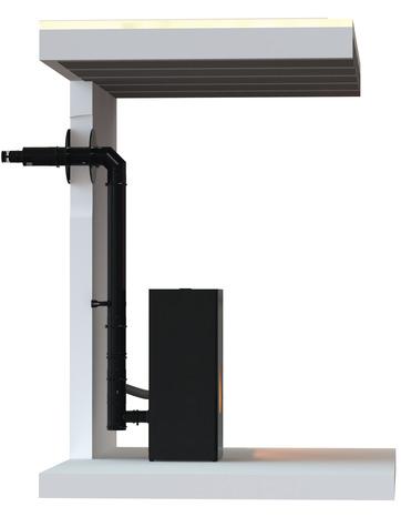 kit de raccordement 80 noir ventouse brico d p t. Black Bedroom Furniture Sets. Home Design Ideas