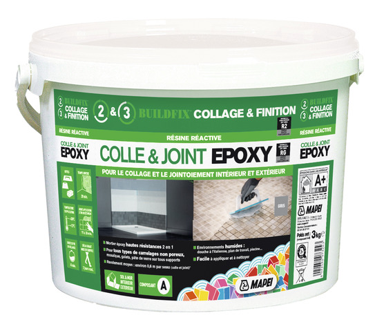 Colle et joint epoxy 3 kg brico d p t for Joint epoxy carrelage