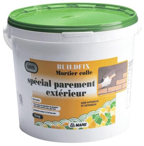 Colle en poudre sp cial parement ext rieur 15 kg brico d p t for Ciment colle special exterieur