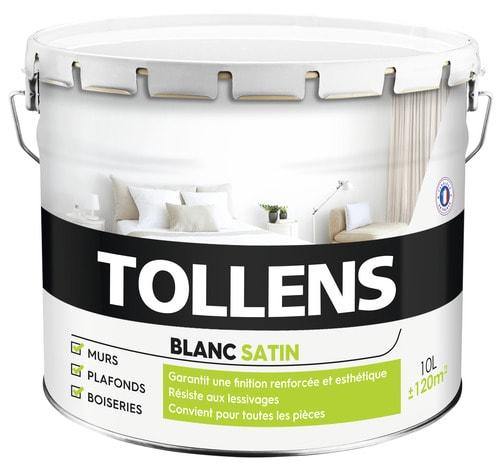 peinture murs et plafonds bicouche blanc satin 10 l 10 l satin brico d p t. Black Bedroom Furniture Sets. Home Design Ideas
