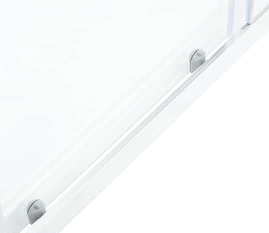 porte coulissante 2 volets onega h 190 x l 120 cm verre transparent larg ext de 117 5. Black Bedroom Furniture Sets. Home Design Ideas