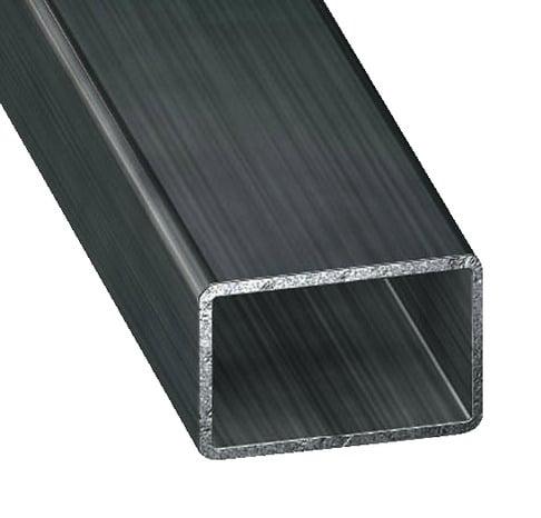tube rectangulaire en acier paf l 2 m l 40 mm h 27 mm ep 1 5 mm brico d p t. Black Bedroom Furniture Sets. Home Design Ideas