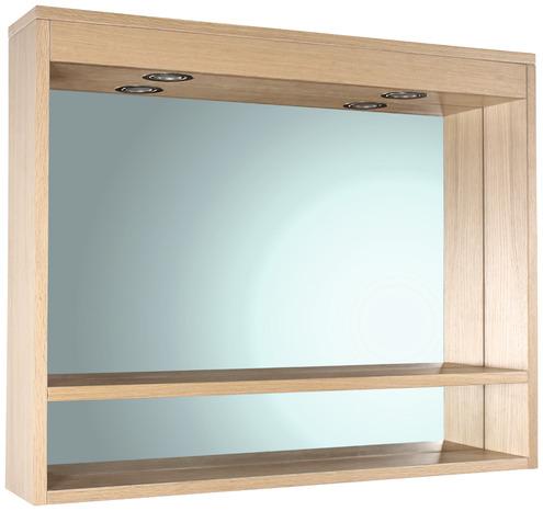 Miroir clairant led origin ch ne bross vernis l 80 cm for Miroir eclairant led