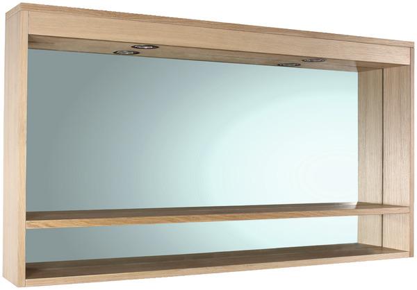 miroir clairant led origin ch ne bross vernis l 120 cm h 60 cm p 12 cm brico d p t. Black Bedroom Furniture Sets. Home Design Ideas