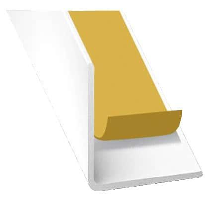 corni re auto adh sive en pvc blanc l 2 60 m l 10 mm h. Black Bedroom Furniture Sets. Home Design Ideas