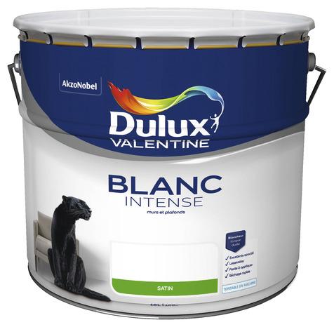 peinture blanc intense satin 10 l 10 l satin brico d p t. Black Bedroom Furniture Sets. Home Design Ideas