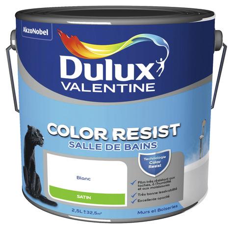 Peinture salle de bains blanche color resist satin l l - Peinture salle de bain dulux valentine ...