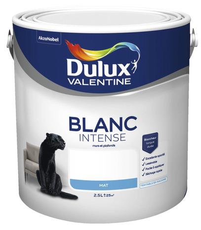 Best peinture blanc intense mat l l mat dulux valentine - Dulux valentine salle de bain ...