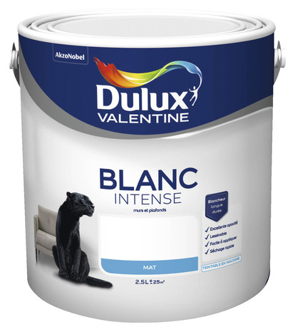 PEINTURE BLANC INTENSE MAT 2,5 L 2,5 L MAT   DULUX VALENTINE