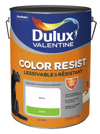Color resist blanc dulux satin 5l 5 l satin brico d p t - Dulux valentine color resist ...