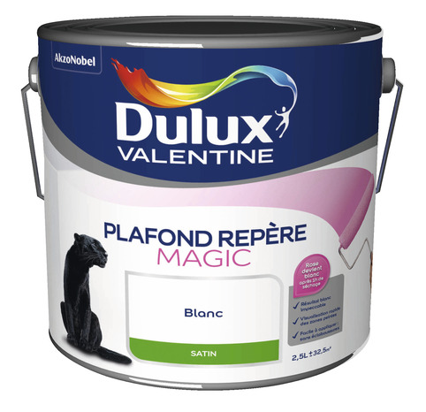 Plafond repere magic dulux satin 2l5 2 5 l satin brico d p t - Dulux valentine plafond net ...