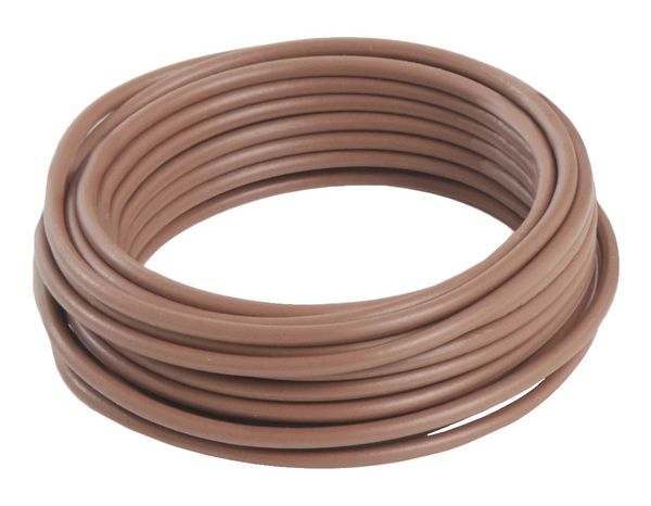 fil electrique marron fil lectrique rond gaine de coton de couleur stripes marron corce et lin. Black Bedroom Furniture Sets. Home Design Ideas