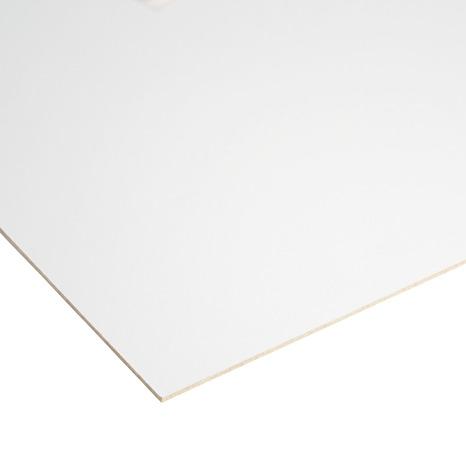 Panneau De Fibre De Bois Laque Blanc L 122 X L 61 Cm X Ep 3