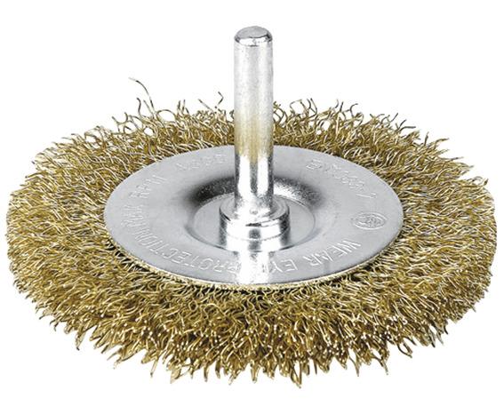 brosse m tallique circulaire sur tige pour perceuse 70 mm brico d p t. Black Bedroom Furniture Sets. Home Design Ideas