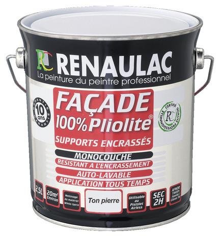 Peinture de fa ade pliolite blanc mat monocouche 10 l - Peinture facade exterieure pliolite ...