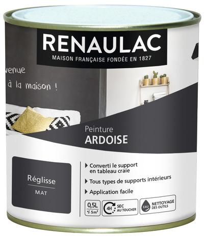 Peinture Ton Reglisse Aspect Mat Pour Inscriptions A La Craie 0 5 L