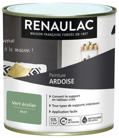 Peinture Ardoise Vert Ecolier 0 5 L Brico Depot