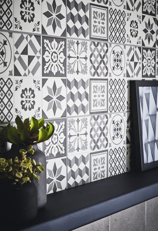 fa ence murale konkrete anthracite brico d p t. Black Bedroom Furniture Sets. Home Design Ideas