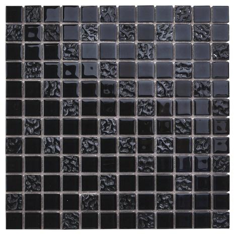 Mosaïque En Verre Flourencia Noir 30 X 30 Cm
