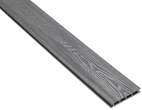 lame de terrasse composite grise brico l 2 40 m x l 14. Black Bedroom Furniture Sets. Home Design Ideas