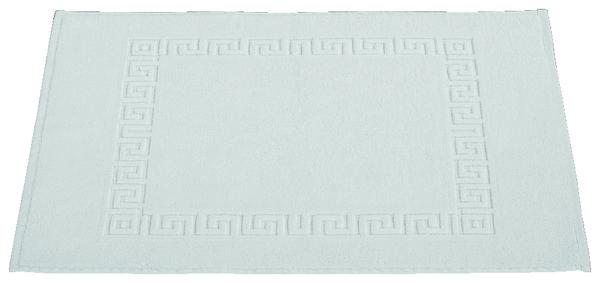 tapis de bain blanc en coton ponge 50x70 cm brico d p t. Black Bedroom Furniture Sets. Home Design Ideas