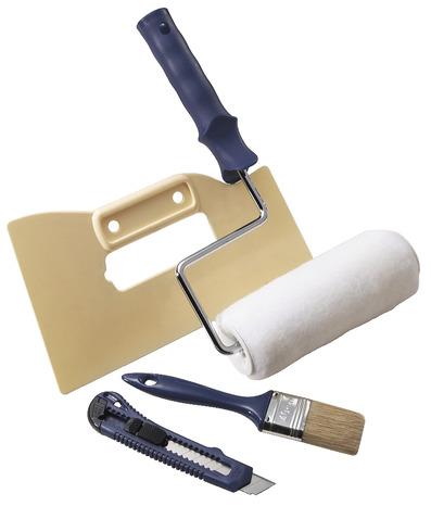 pack application fibre de verre 1 rouleau 1 cutter 1 pinceau plat et 1 couteau maroufler. Black Bedroom Furniture Sets. Home Design Ideas