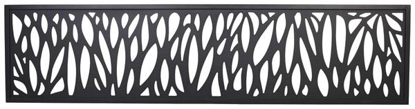 panneau d coratif motif feuille neva l 1 79 m x l 44 cm x p 21 mm brico d p t. Black Bedroom Furniture Sets. Home Design Ideas