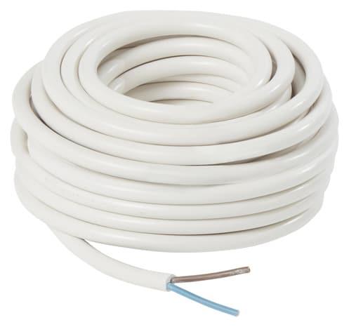 C ble souple gris h05vvf 2 fils 2x1 5 mm2 l 10 m brico - Cable electrique brico depot ...