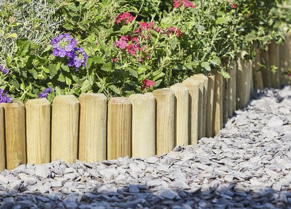 bordure bois demi rondin l 1 8 m x h 15 cm x p 3 cm brico d p t. Black Bedroom Furniture Sets. Home Design Ideas
