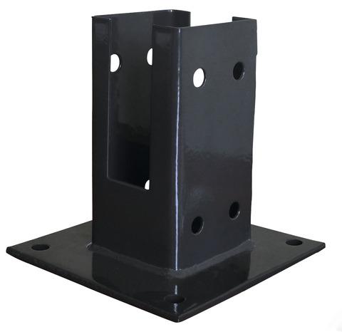 Platine de fixation pour poteau bois la platine brico d p t - Tube carre acier brico depot ...