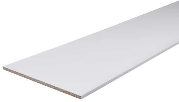 Tablette Mélaminée Blanche 2 M L 30 Cm X ép 16 Cm Form