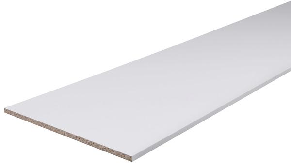 Tablette Melaminee Blanche 2 5 M L 50 Cm X Ep 1 8 Cm Brico Depot