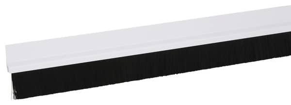 bas de porte adh sif en pvc blanc avec brosse l 1 m x p 25 mm brico d p t. Black Bedroom Furniture Sets. Home Design Ideas