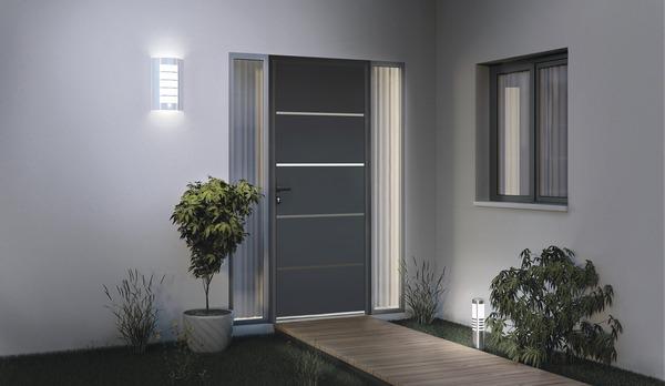 Porte d 39 entr e aluminium elbrouz gauche brico d p t for Porte aluminium blanche