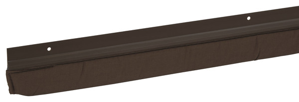 Bas de porte en pvc marron visser l 95 cm x p 25 mm - Porte pvc marron ...