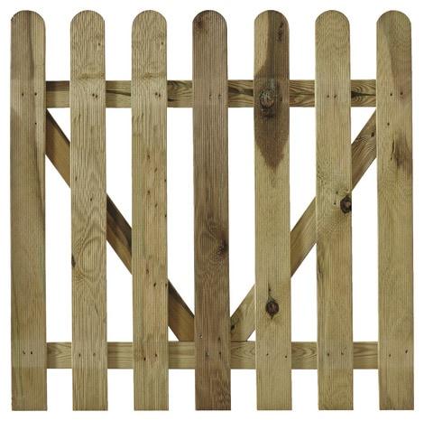portillon en pin pour palissade bois mekong l 1 m x h. Black Bedroom Furniture Sets. Home Design Ideas