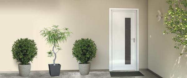 porte d 39 entr e pvc eiger h 215 x l 90 cm brico d p t. Black Bedroom Furniture Sets. Home Design Ideas