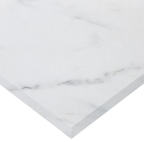 Plan De Travail Stratifie Imitation Marbre Blanc Long 2440 X Prof