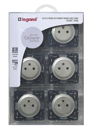 Lot De 6x2p T Mecanisme Support Celiane Coloris Titane Brico Depot