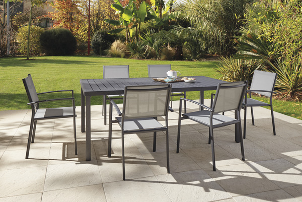 Table de jardin en aluminium \